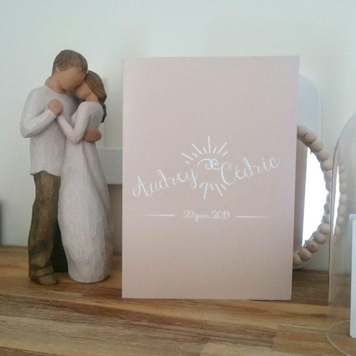 Création personnalisée FP de mariage byLFDP