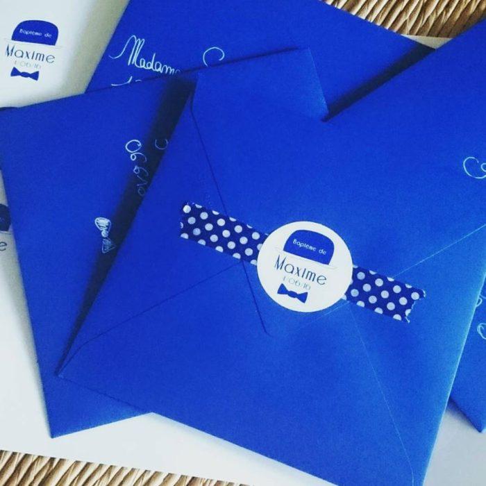 Enveloppes faire-part personnalisée - sticker byLFDP