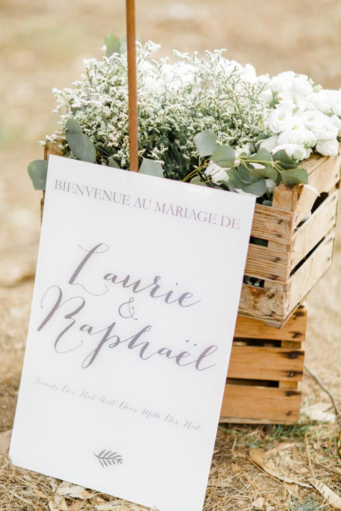 Panneau accueil mariage - création byLFDP