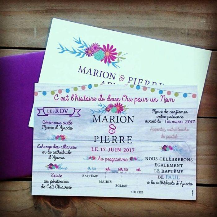 Faire-part de mariage - byLFDP