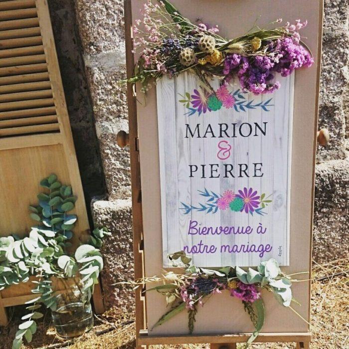 Panneau d'accueil mariage - bylfdp