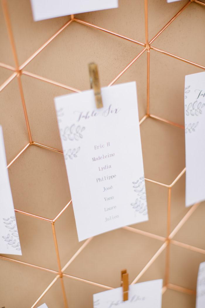 plan de tables - décoration mariage - corse - byLFDP