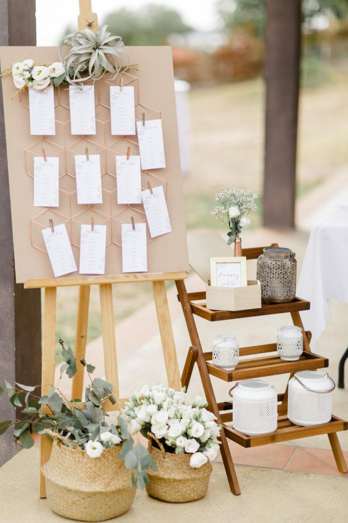 Plan de tables et decoration complète - bylfdp - mariage Corse