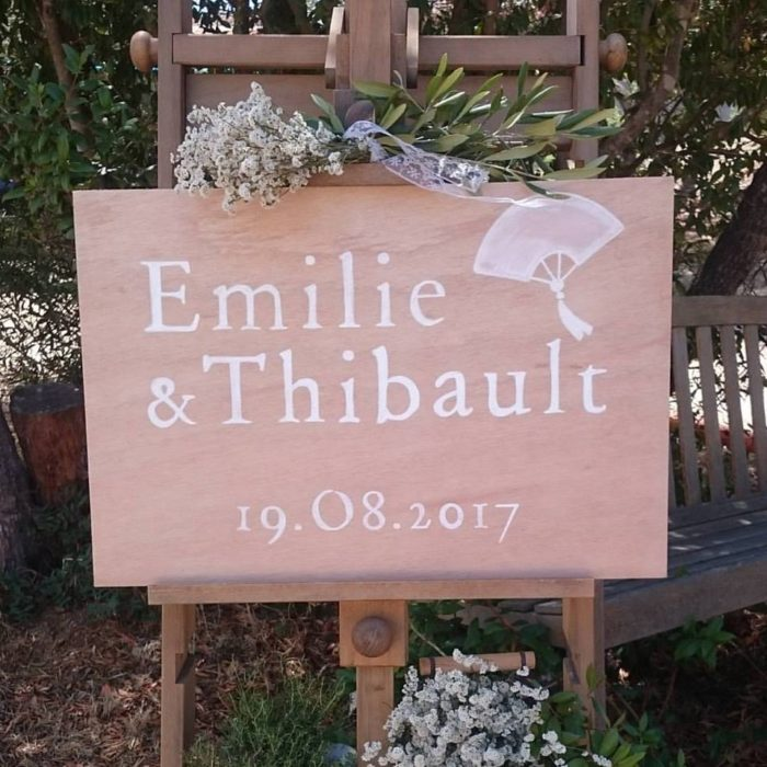 mariage en Corse - panneau accueil création byLFDP