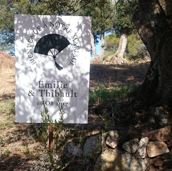 mariage en Corse - Panneau accueil - décoration byLFDP