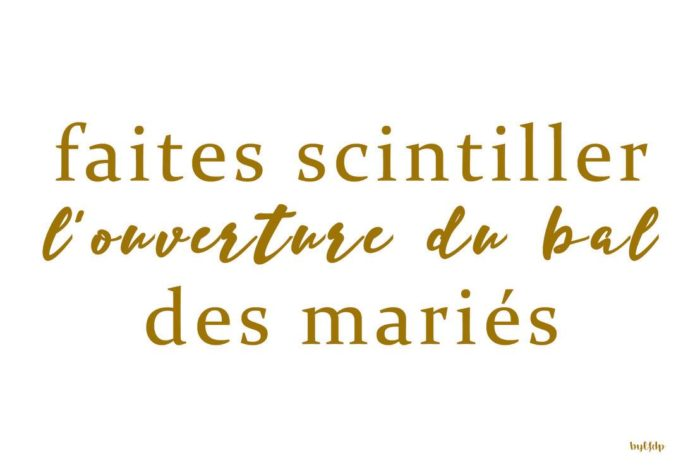 Créations mariage byLFDP