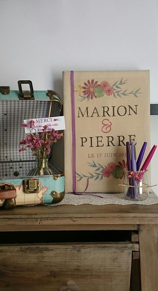 Création livre d'or mariage - byLFDP