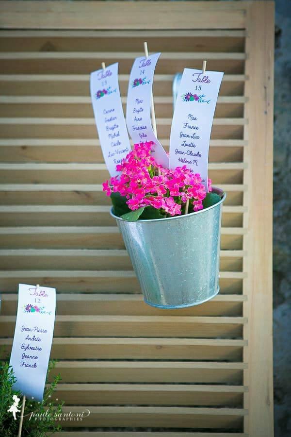 Marion & Pierre - mariage en Corse - plan de tables
