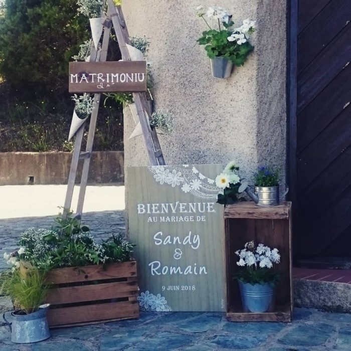 Sandy et Romain - création et location - bylfdp - mariage Corse