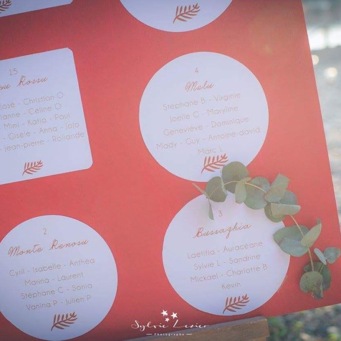 Plan de tables - mariage Corse- création byLFDP