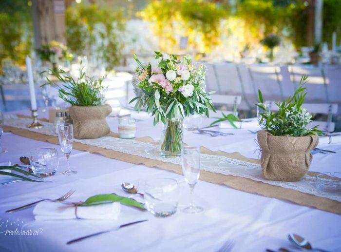 Centre de tables - mariage Corse - bylfdp