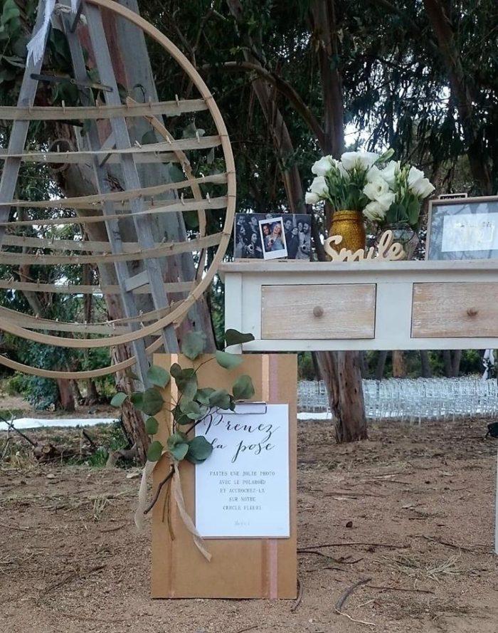 Prenez la pose - location décoration mariage byLFDP - Corse