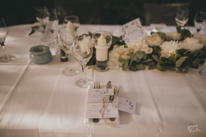 Anne & Arnaud DECORATION TABLES mariage en Corse byLFDP