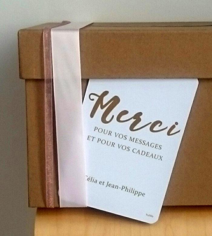 carte MERCI mariage urne - création byLFDP