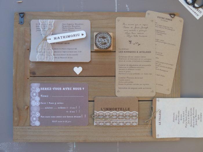 Papeterie de mariage - création byLFDP