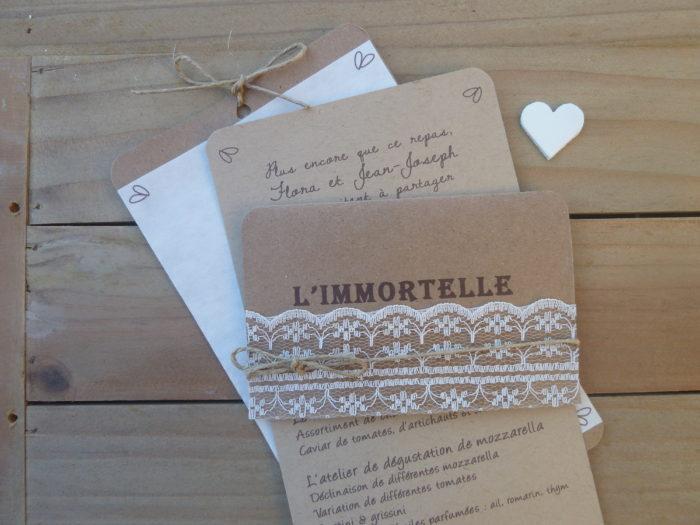 Papeterie de mariage Flora et Jean-Joseph - Corse - byLFDP