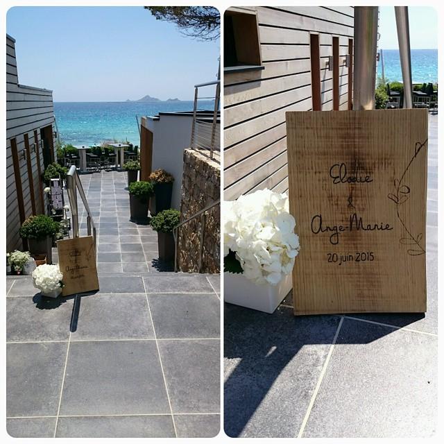 mariage en Corse - Elodie et Ange-Ma - faire-part et décoration byLFDP
