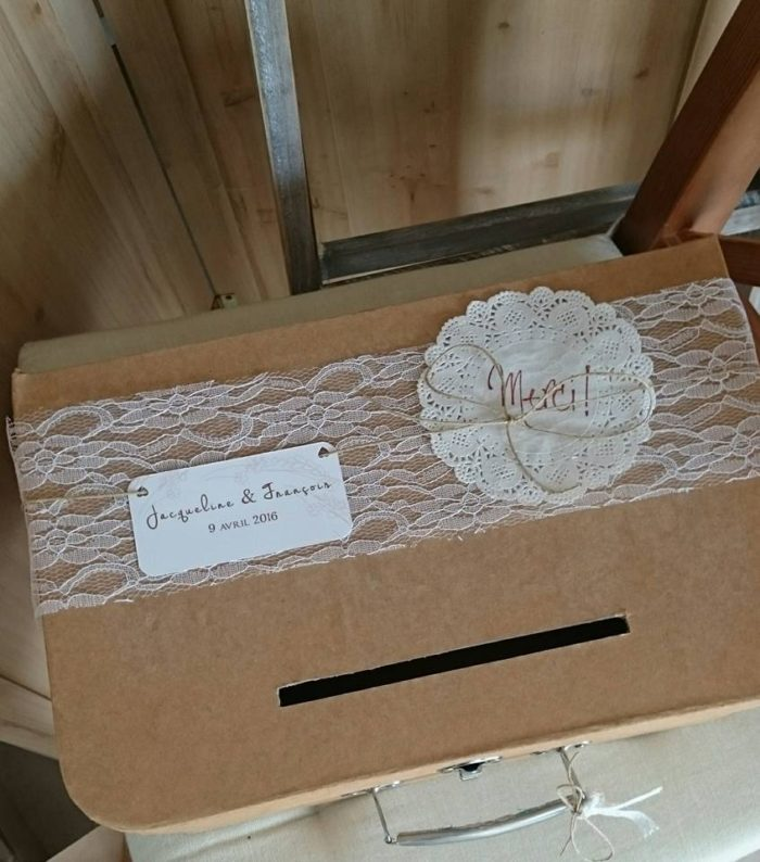 Urne mariage - création byLFDP - mariage en Corse