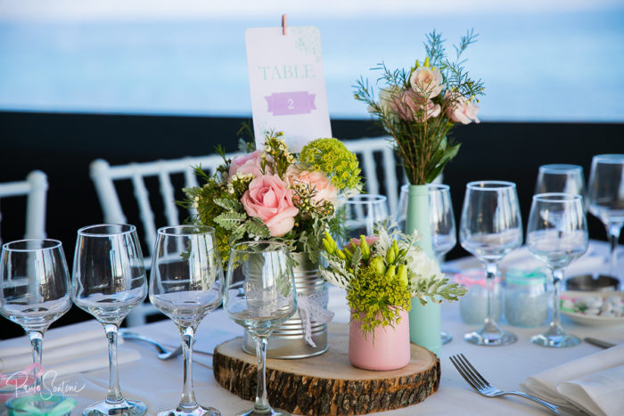 Décoration tables - mariage Corse byLFDP