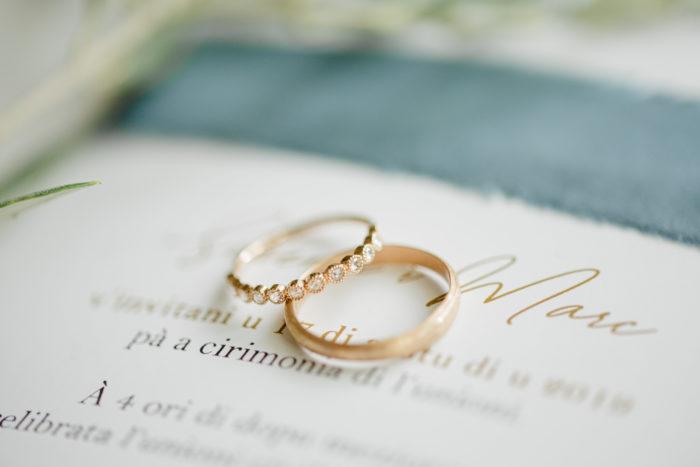Faire-part de mariage - artisanal - satin - création byLFDP