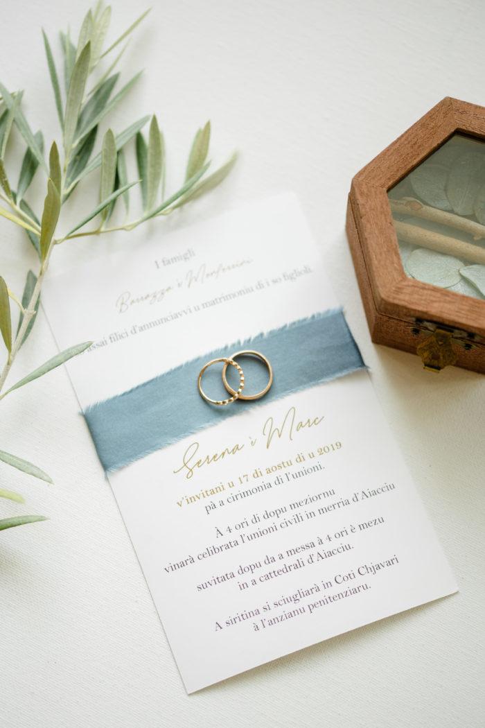Faire-part de mariage - Corse - Satin
