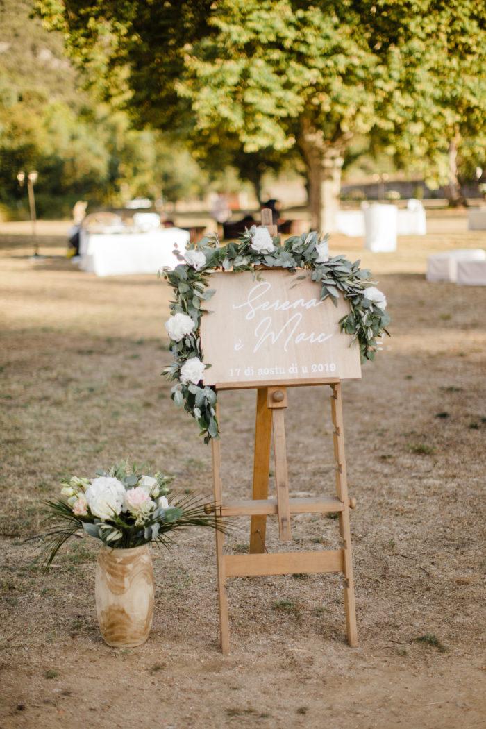 Panneau d'accueil mariage Corse - création byLFDP