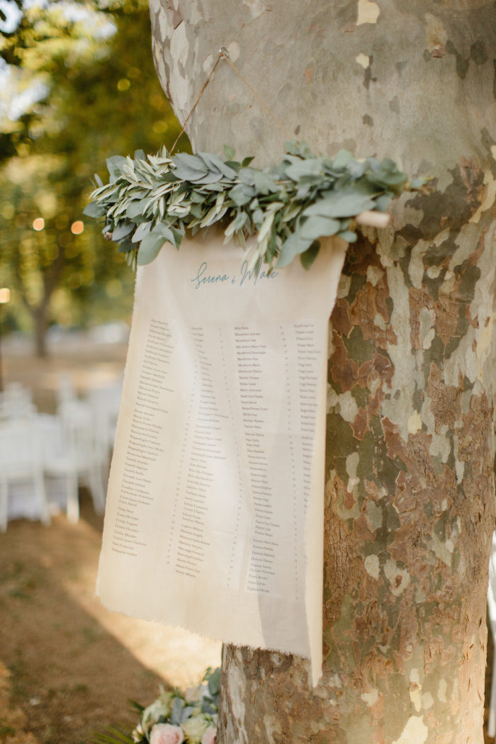 Plan de tables mariage - création byLFDP