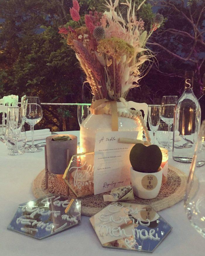 Table des mariés - décoration mariage byLFDP