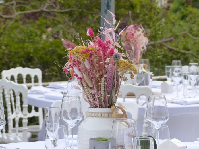 Centre de table - fleurs séchées - décoration byLFDP