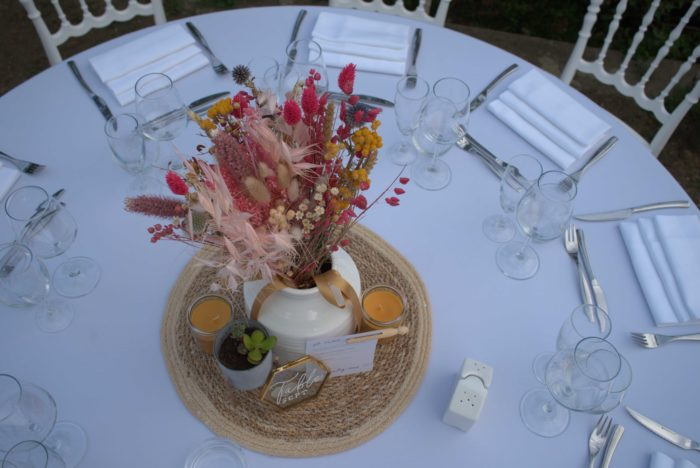 Centres de table mariage - byLFDP