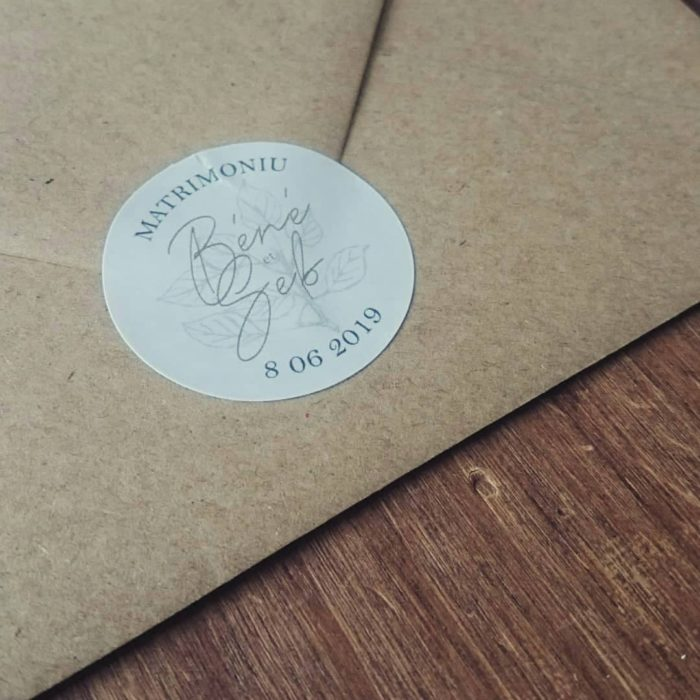 Enveloppes - sticker personnalisé - faire-part de mariage byLFDP