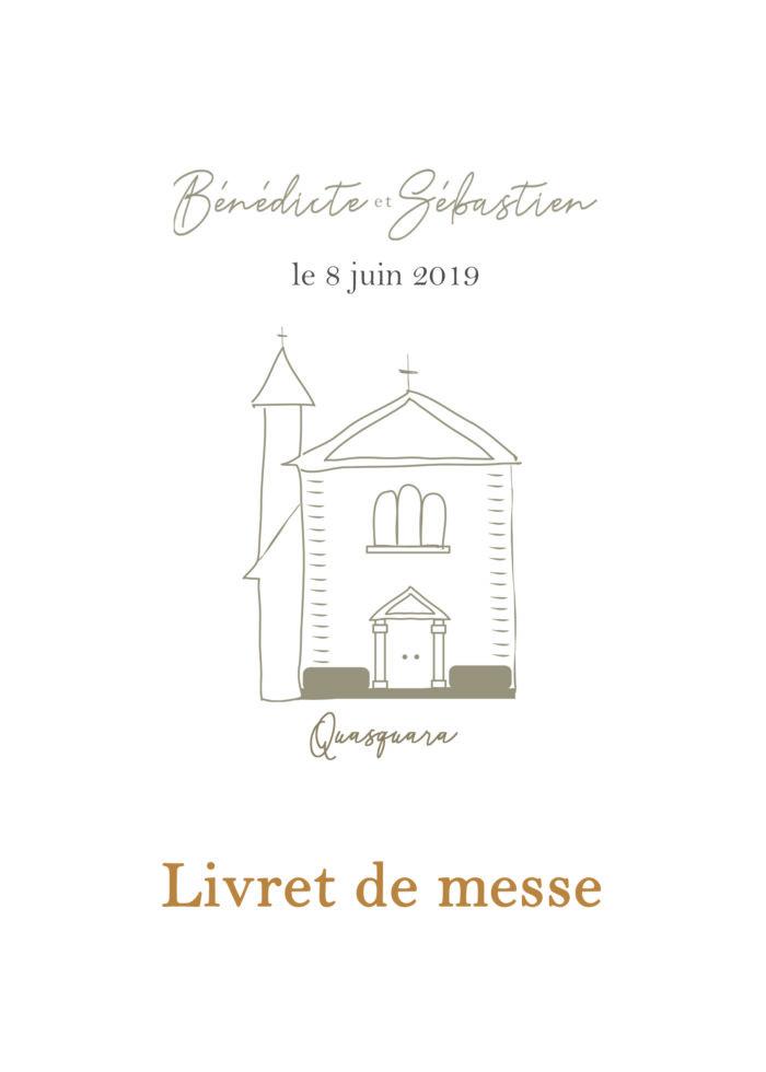 Carnets de messe de mariage byLFDP