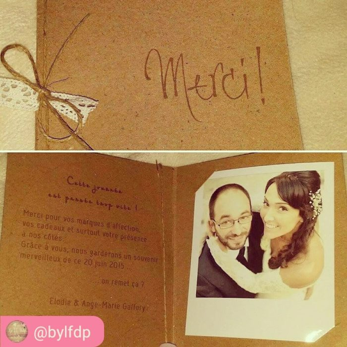 Merci invités mariage - byLFDP